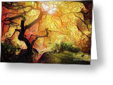 Abstract Japanese Maple Tree 2 Greeting Card