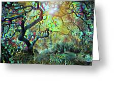 Abstract Japanese Maple Tree 3 Greeting Card