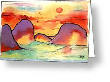 Abstract Landscape 006 Greeting Card