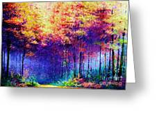 Abstract Landscape 0830a Greeting Card