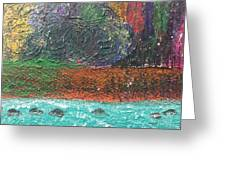 Abstract Landscape 15-oo Greeting Card