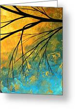 Abstract Landscape Art Passing Beauty 2 Of 5 Greeting Card
