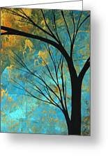 Abstract Landscape Art Passing Beauty 3 Of 5 Greeting Card
