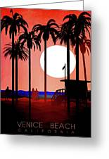 Abstract Landscape Beach Art 3 - By Diana Van Greeting Card