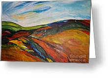 abstract landscape-Haloze Greeting Card