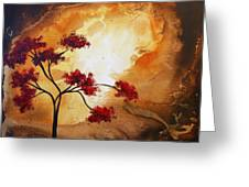 Abstract Landscape Painting Empty Nest 12 By Madart Greeting Card by Megan Duncanson
