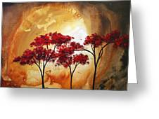 Abstract Landscape Painting Empty Nest 2 By Madart Greeting Card