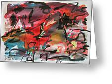 Abstract Landscape Sketch13 Greeting Card