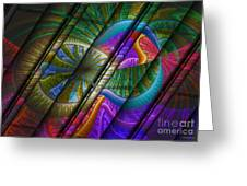 Abstract Levels Of Color Greeting Card