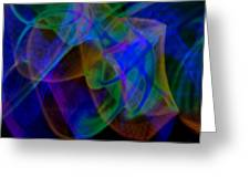 Abstract Light Trails Greeting Card