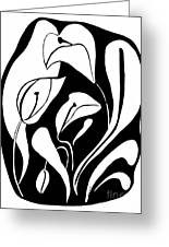 Abstract Lilies Greeting Card
