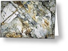 Abstract Limestone And Silica Texture Greeting Card