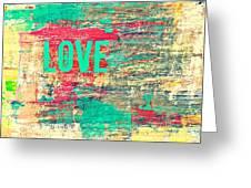Abstract Love V2 Greeting Card