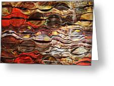 Abstract Magnified Lines Greeting Card