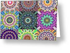Abstract Mandala Collage Greeting Card