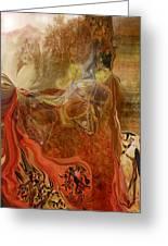 Abstract-mask Greeting Card