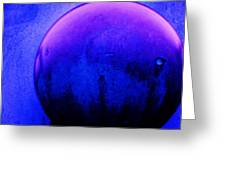 Abstract Metal Ball Greeting Card