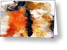 Abstract Metal Wall Art, Print On Aluminum, Original Oil Painting Greeting Card