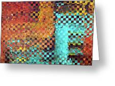 Abstract Modern Art - Pieces 1 - Sharon Cummings Greeting Card