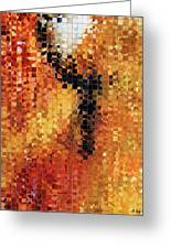 Abstract Modern Art - Pieces 8 - Sharon Cummings Greeting Card