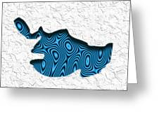 Abstract Monster Cut-out Series - Blue Swimmer Greeting Card