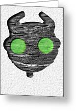 Abstract Monster Cut-out Series - Ferko Greeting Card