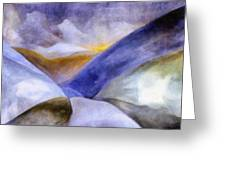 Abstract Mountain Landscape Greeting Card by Michelle Calkins