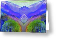 Abstract Mountains By Nixo Greeting Card