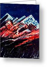 Abstract Mountains Greeting Card