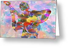 Abstract Musican Guitarist Greeting Card