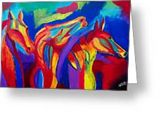 Abstract Mustangs Greeting Card