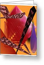 Abstract-n-gold Greeting Card