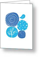 Abstract Nature Blue Greeting Card