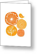 Abstract Nature Orange Greeting Card