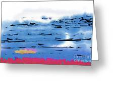 Abstract Ocean Greeting Card