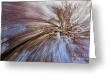 Abstract Of A Spring Tree In Bloom. In Camera Effect. Greeting Card