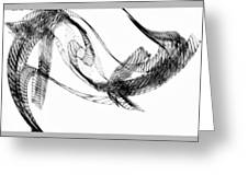 Abstract Of Dolphins In Courting Ritual Greeting Card