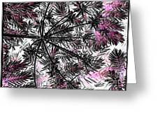 Abstract Of Ever Green Bush Greeting Card