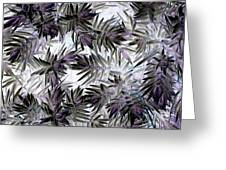 Abstract Of Low Growing Evergreen Shrub Greeting Card