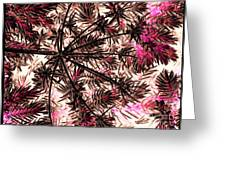 Abstract Of Low Growing Shrub  Greeting Card