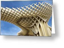Abstract Of Metropol Parasol Pod At Plaza Of The Incarnation Sev Greeting Card