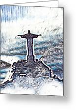 Abstract Of Our Saviour  Greeting Card