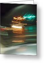 Abstract Of Racing Cars Greeting Card