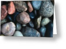 Abstract Of River Rocks 1 Greeting Card