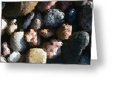 Abstract Of River Rocks 2 Greeting Card