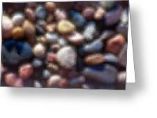 Abstract Of River Rocks 3 Greeting Card