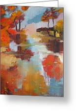 Abstract Of Wild Auge River  Greeting Card