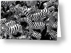 Abstract Of Zebras Statue In Various Sizes  Greeting Card