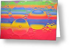Abstract Oil And Water 7 Greeting Card