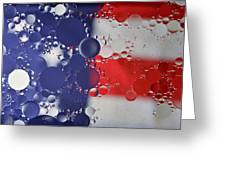Abstract Oil And Water Usa 2 Greeting Card